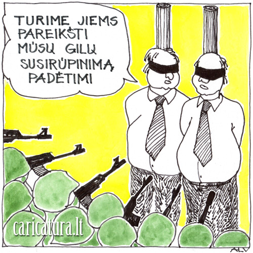 """Alvydas Ambrasas – karikatūra """"Susirūpinimas"""""""