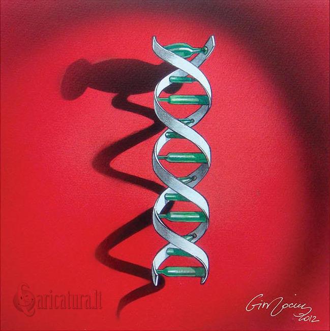 """""""Genetinis suktukas"""" pieš. Gintaras Jocius"""